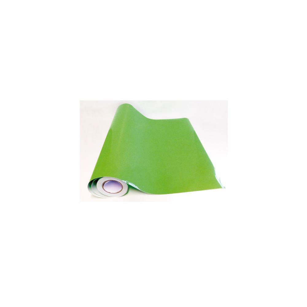 Adzif Biz Rouleau adhésif - Papier peint autocollant - Vert tilleul brillant (10 m x 123 cm)