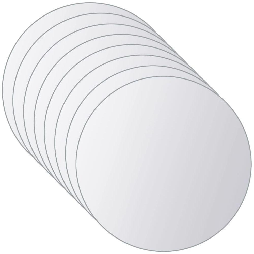 Carreaux de mosa/ïque miroir en verre v/éritable 900 Pi/èces Autocollant argent, 10 x 10 mm x 6 feuilles