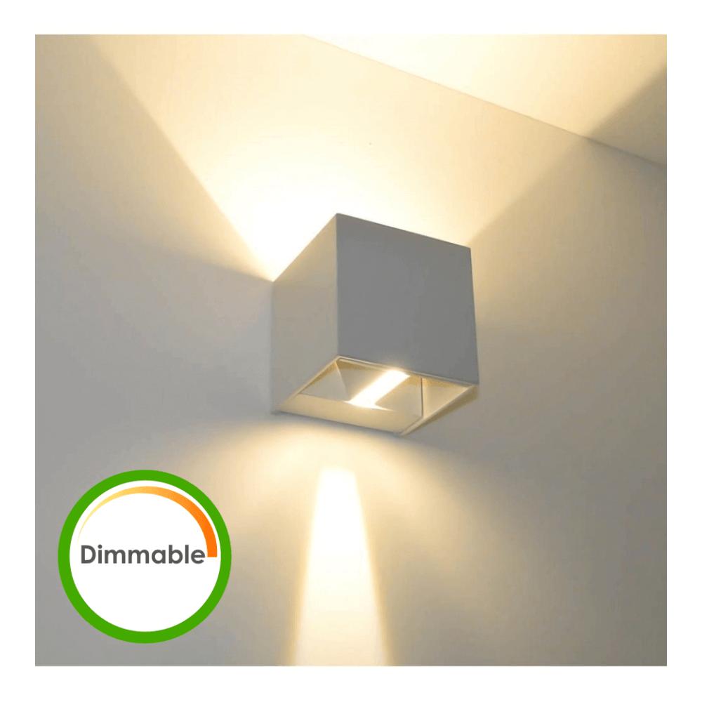 Kosilum Lampe murale LED variable 6W - Cubic Blanc