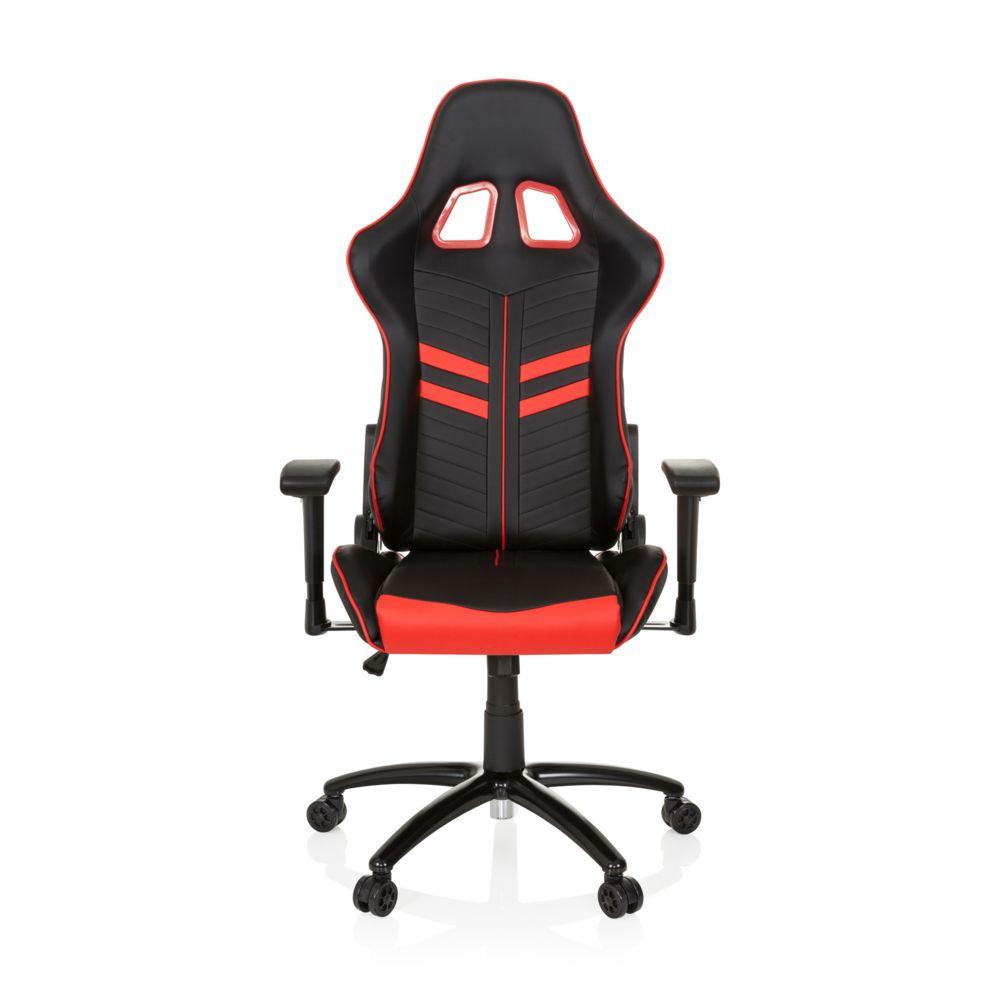Hjh Office Chaise gaming / Chaise de bureau LEAGUE PRO simili cuir noir / rouge hjh OFFICE