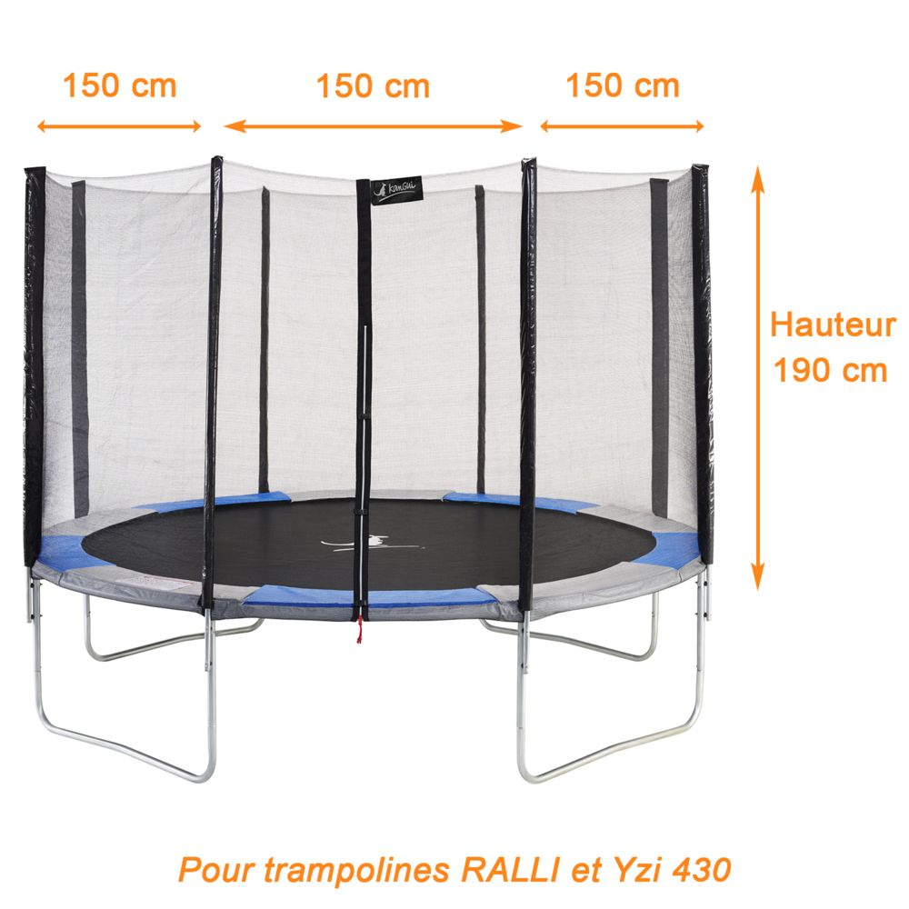 Kangui Kangui - Filet de sécurité et protection trampoline RALLI Ø 430cm
