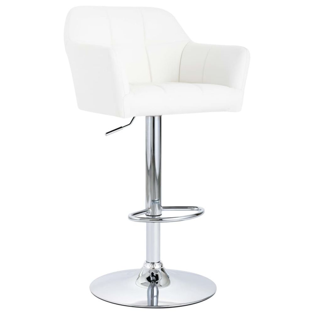 Uco - UCO Chaise de bar avec accoudoir Blanc Similicuir ...
