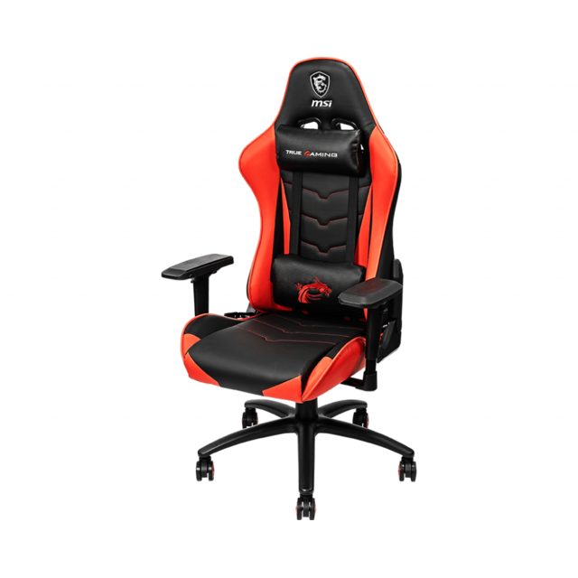 Msi -MAG CH120 - Siège gamer simili cuir rouge Msi  - Chaise gamer