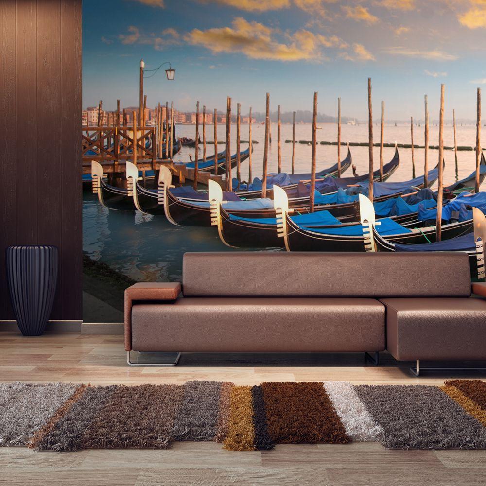 Bimago Papier peint | Gondoles vénitiennes | 550x270 | XXL |