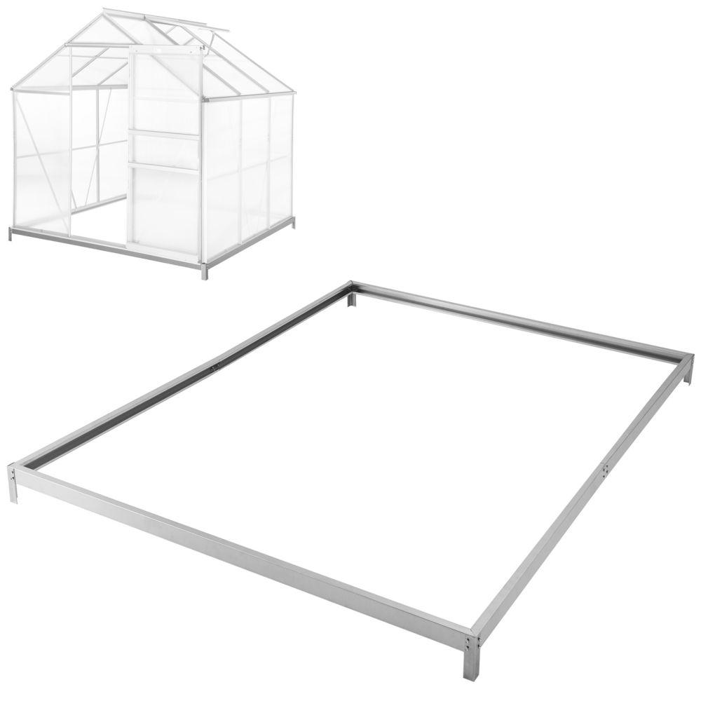 Tectake Embase pour serre de jardin - 190 x 190 x 12 cm