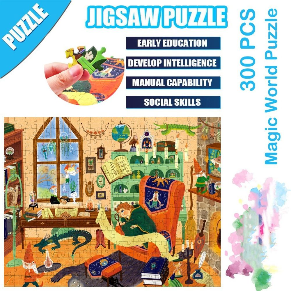 Generic Science Cartoon Magic World Puzzle 300 pièces éducatif Puzzle Game Toys