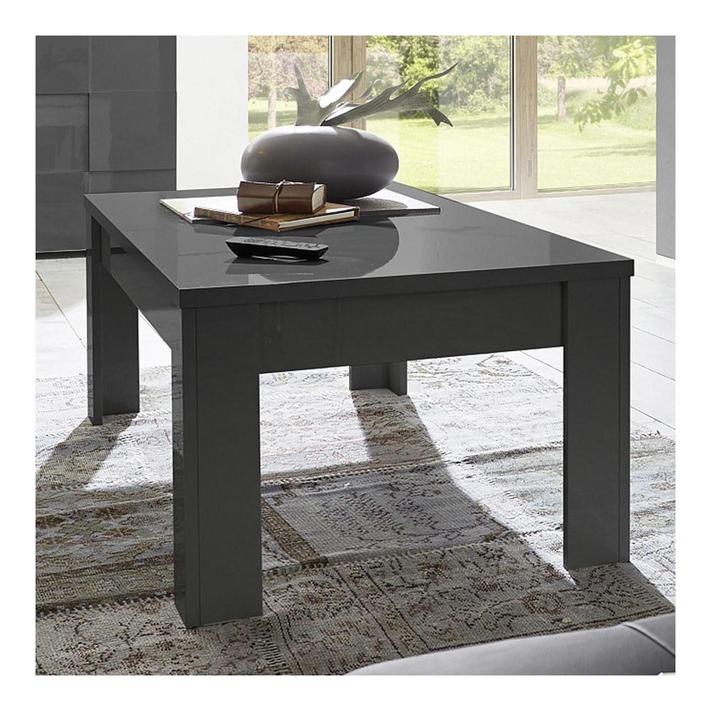 Sofamobili Table basse gris laqué brillant ARTIC 2