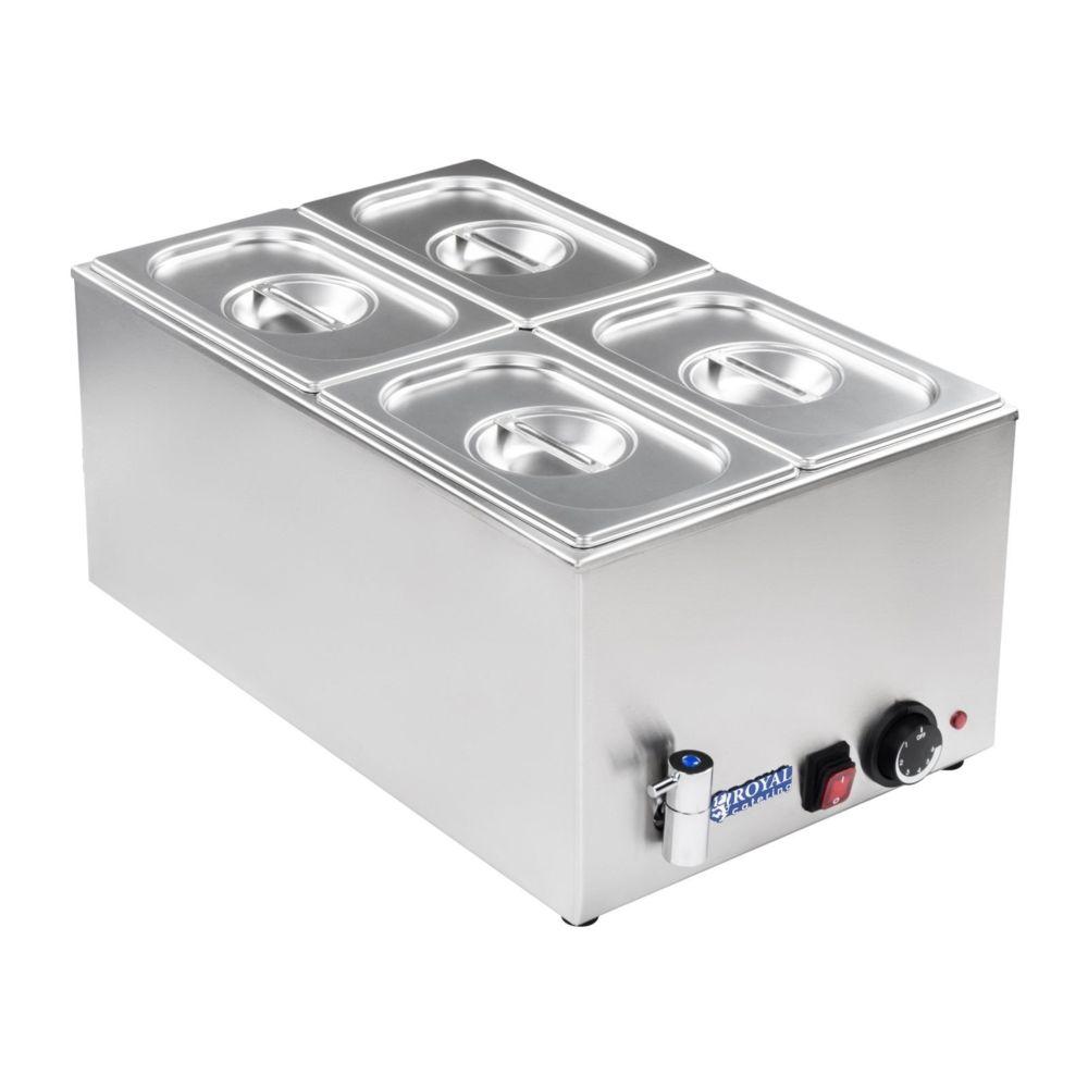 Helloshop26 Bain-marie électrique professionnel bac GN 1/4 avec robinet de vidange 1 200 watts 3614106