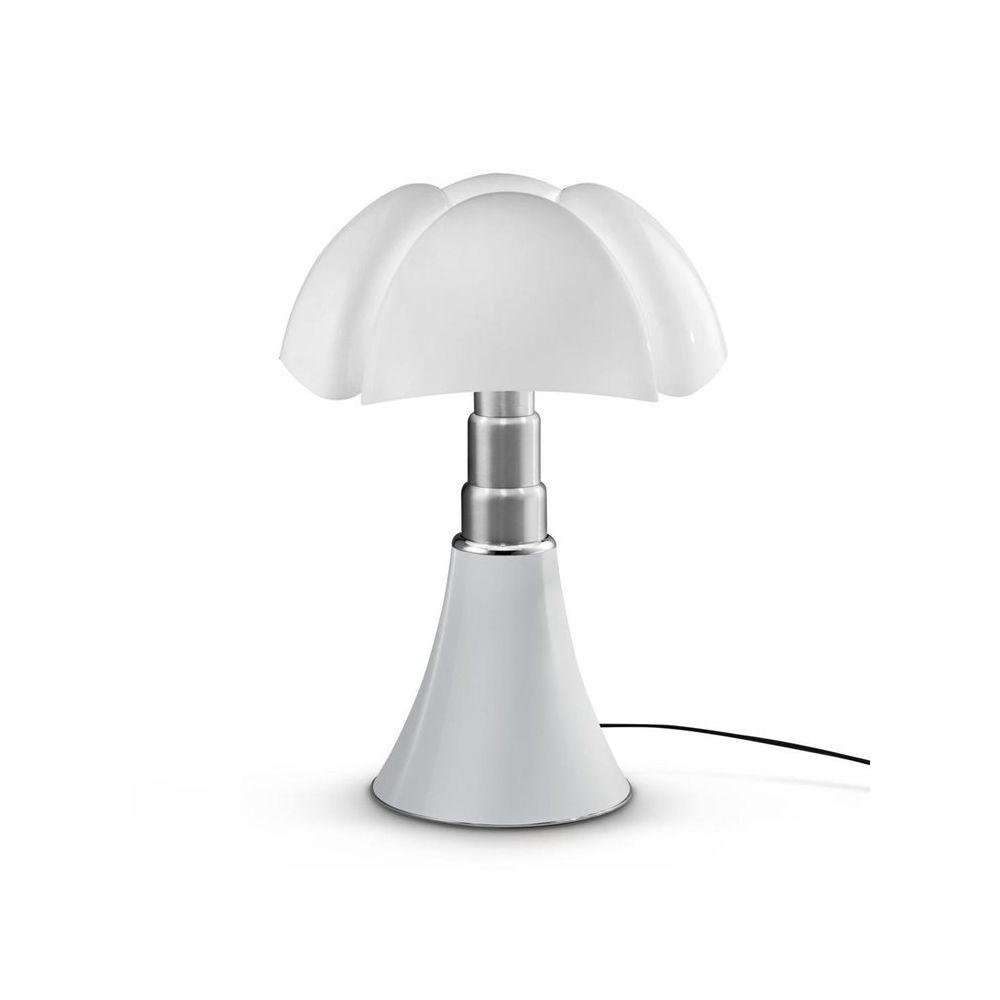 Martinelli Luce PIPISTRELLO-Lampe Dimmer LED pied télescopique H66-86cm Blanc Martinelli Luce - designé par Gae Aulenti