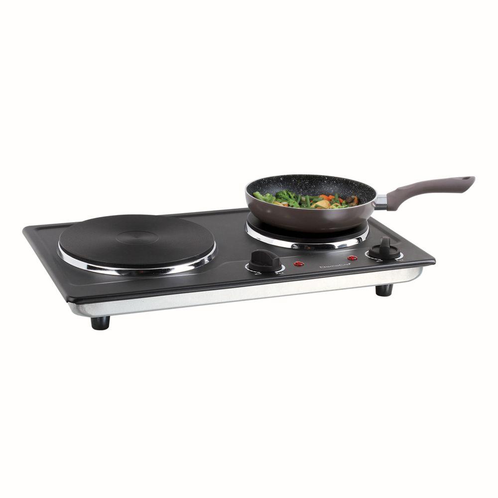 Livoo Plaque cuisson électrique noire double DOC168N
