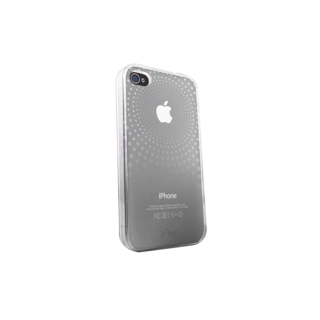 iFrogz - IFROGZ Housse iPhone 4 SoftGloss Phase - Clear/Silver - PROMO!! ¬ (IP4GSGPH-CLR/SLV) - protection ecran iphone 4