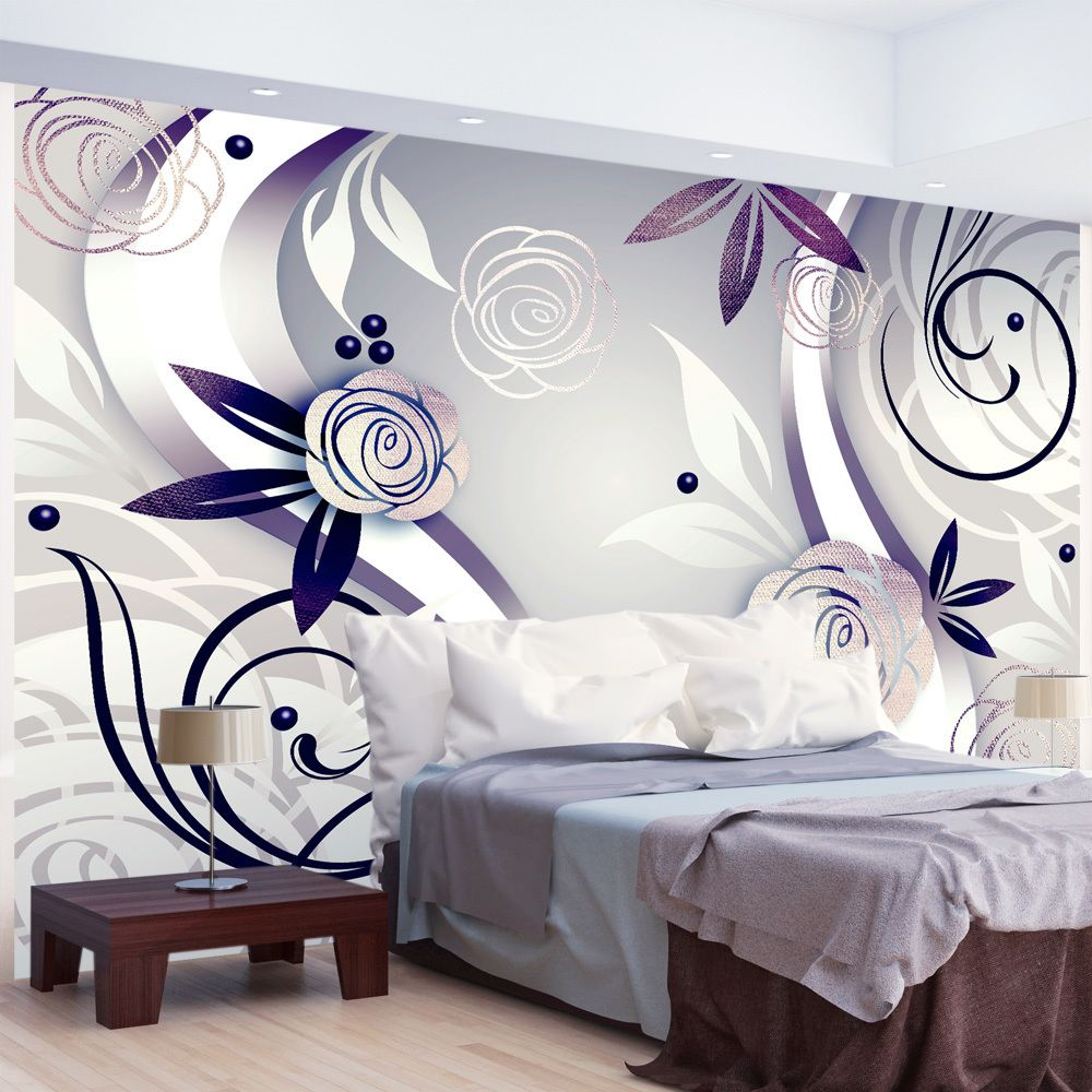 Bimago Papier peint   Purple roses   300x210   Fonds et Dessins   Motifs floraux  