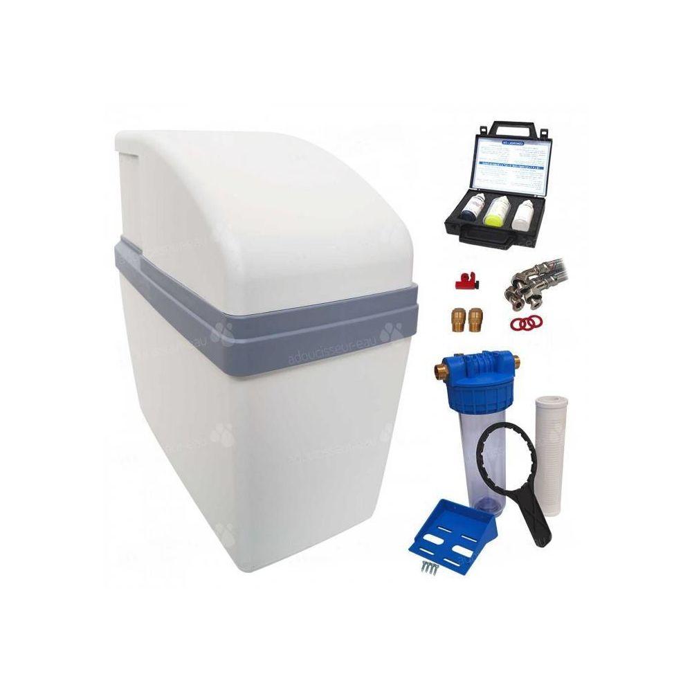 Delta Adoucisseur d'eau sans électricité ultra compact simplex complet avec accessoires