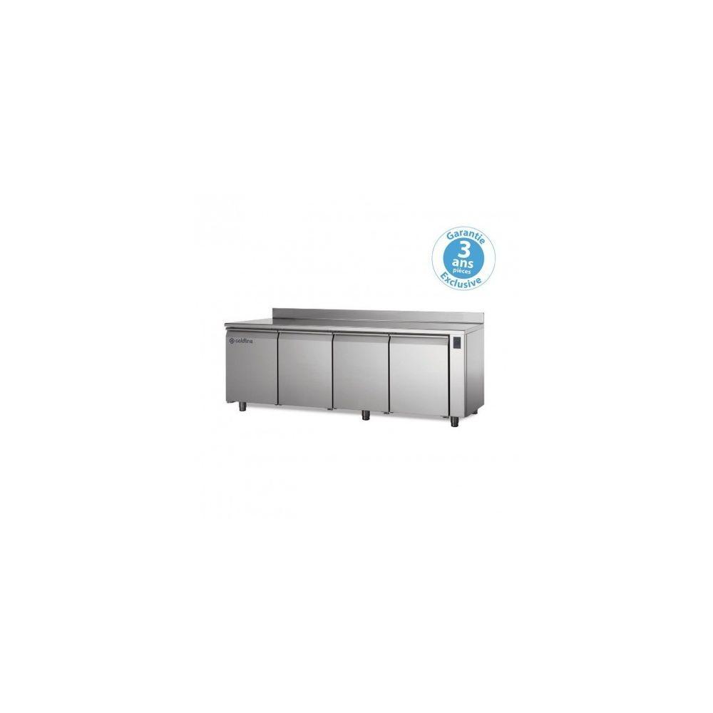Materiel Chr Pro Table réfrigérée positive - sans groupe - 4 portes - 560 litres - profondeur 800 - 600 x 400 - avec dosseret -