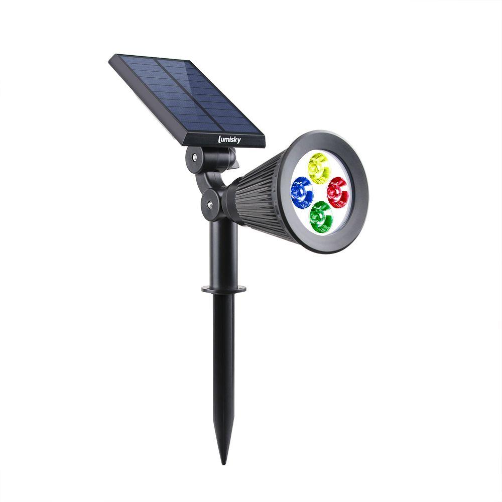 Lumisky Spot lumineux blanc solaire SPIKY à LED 34cm