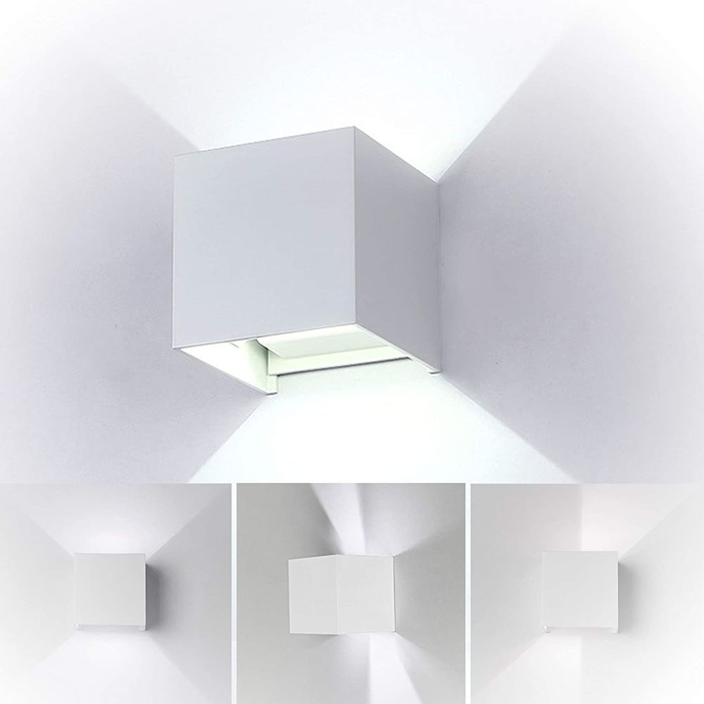 Stoex Lot de 2 Led Applique murale 7W chambre Moderne Interieur, Up and Down Design Réglable Lampe, Aluminium luminaires appli