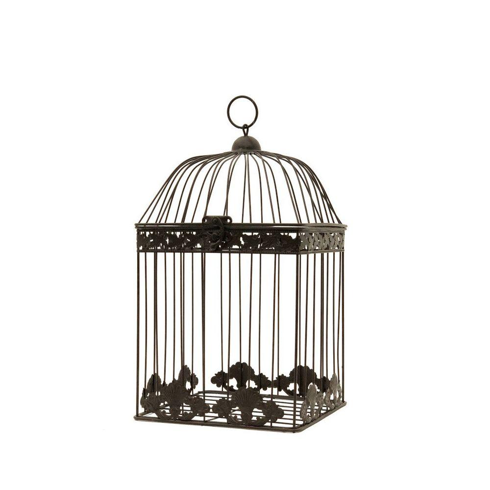 Chemin De Campagne Cage à Oiseaux Déco Carré Marron 43 cm x 23 cm x 23 cm
