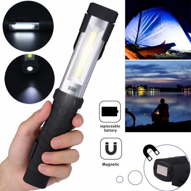 Rechargeable Cob LED Slim Travail Lampe Torche Inspecter Pliable Torche