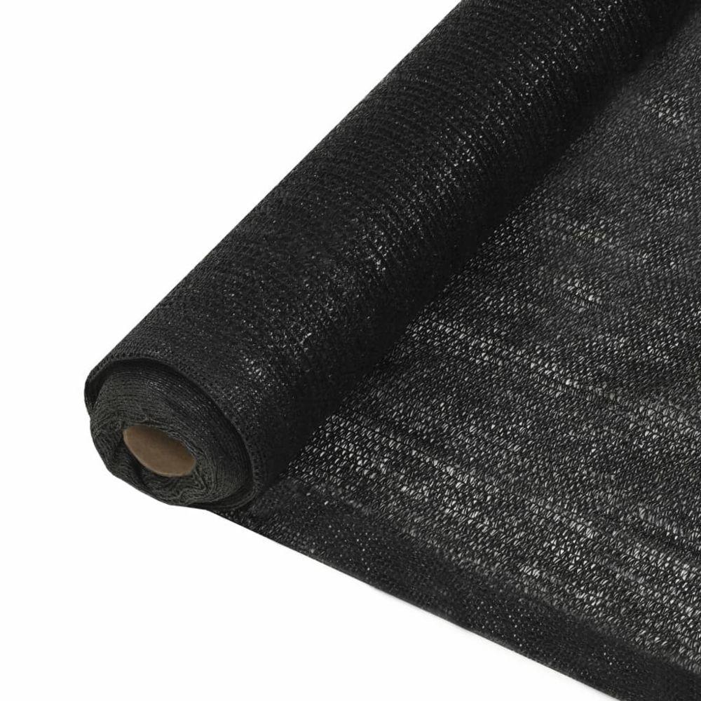 Vidaxl vidaXL Filet brise-vue PEHD 1,5 x 10 m Noir