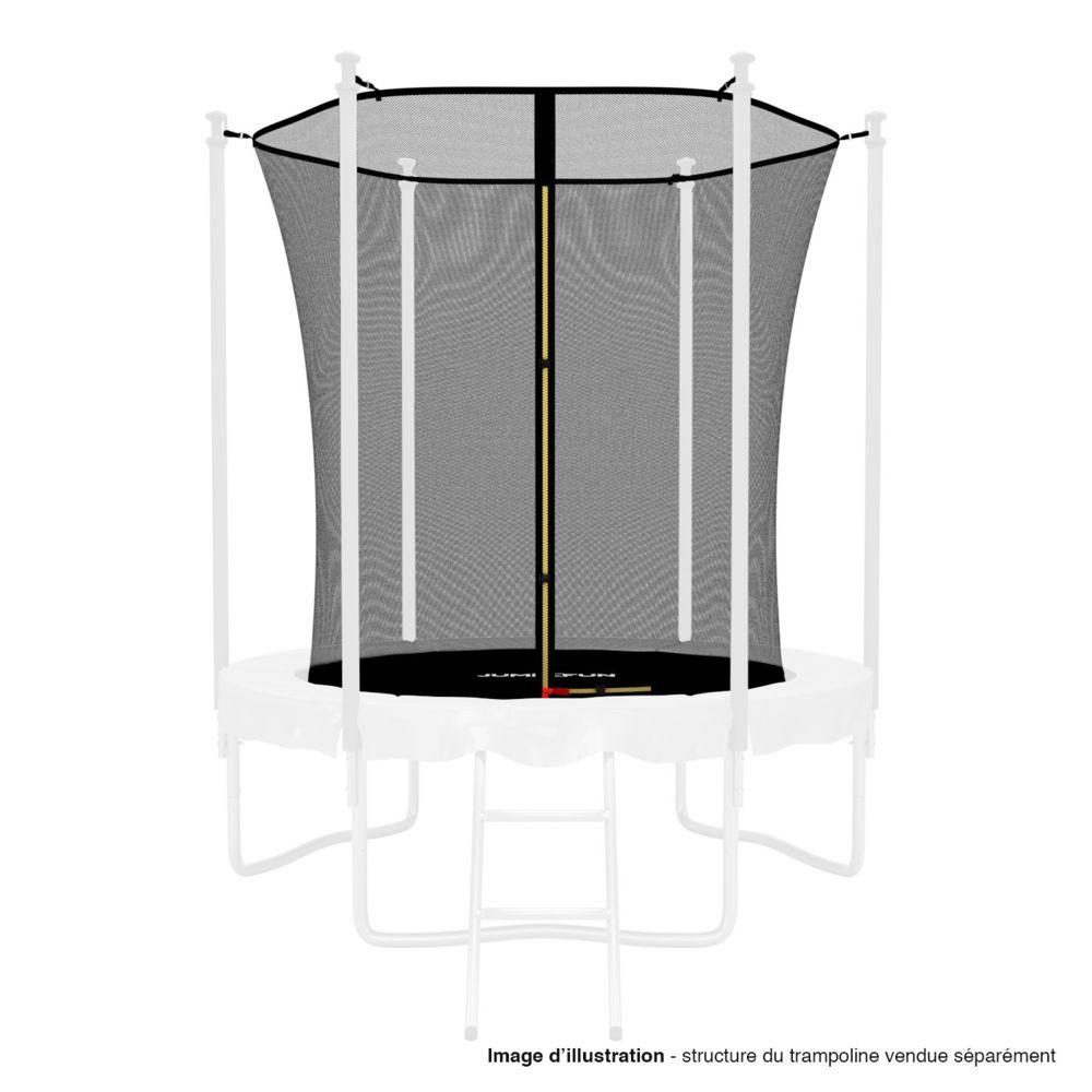 Kaia Sports Filet intérieur de sécurité pour trampoline avec bouchons hauts de perches et ficelle : ø 6Ft, 6 Perches