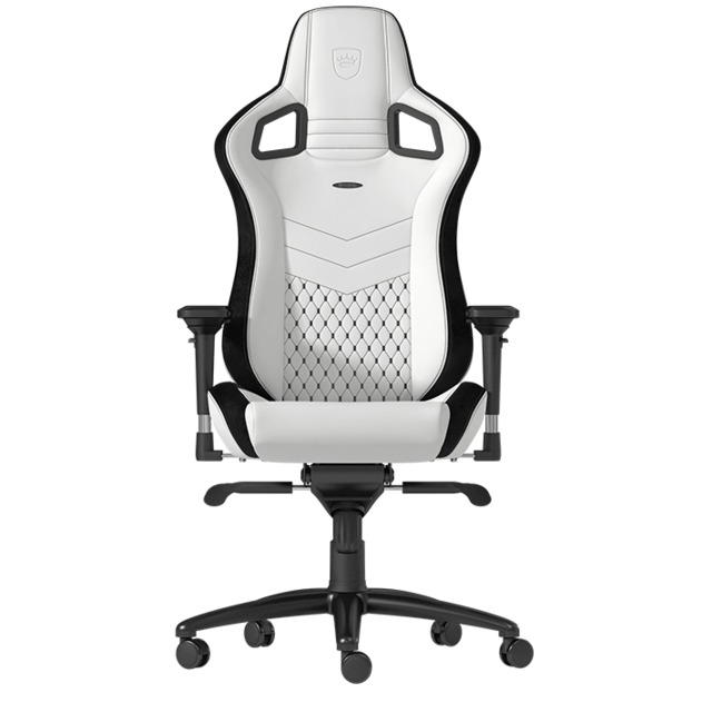 Noblechairs -EPIC - Blanc/Noir Noblechairs  - Chaise gamer