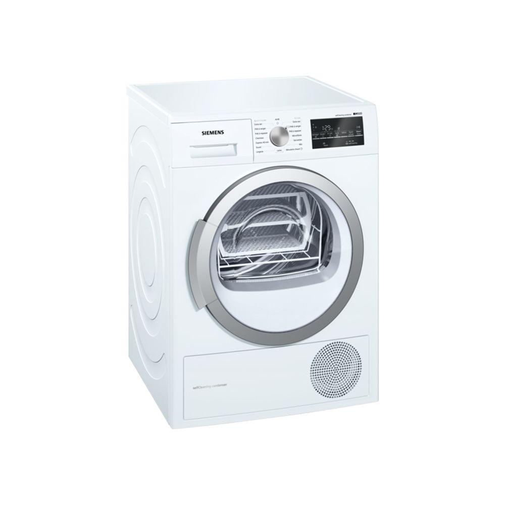 Siemens siemens - sèche-linge frontal à pompe à chaleur 60cm 9kg a++ blanc - wt47w491ff