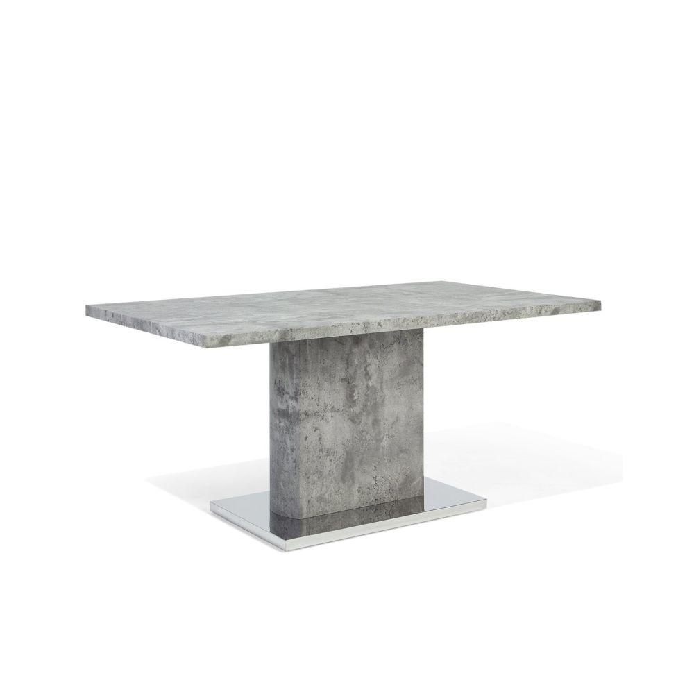 Beliani Beliani Table de salle à manger gris ciment PASADENA - gris