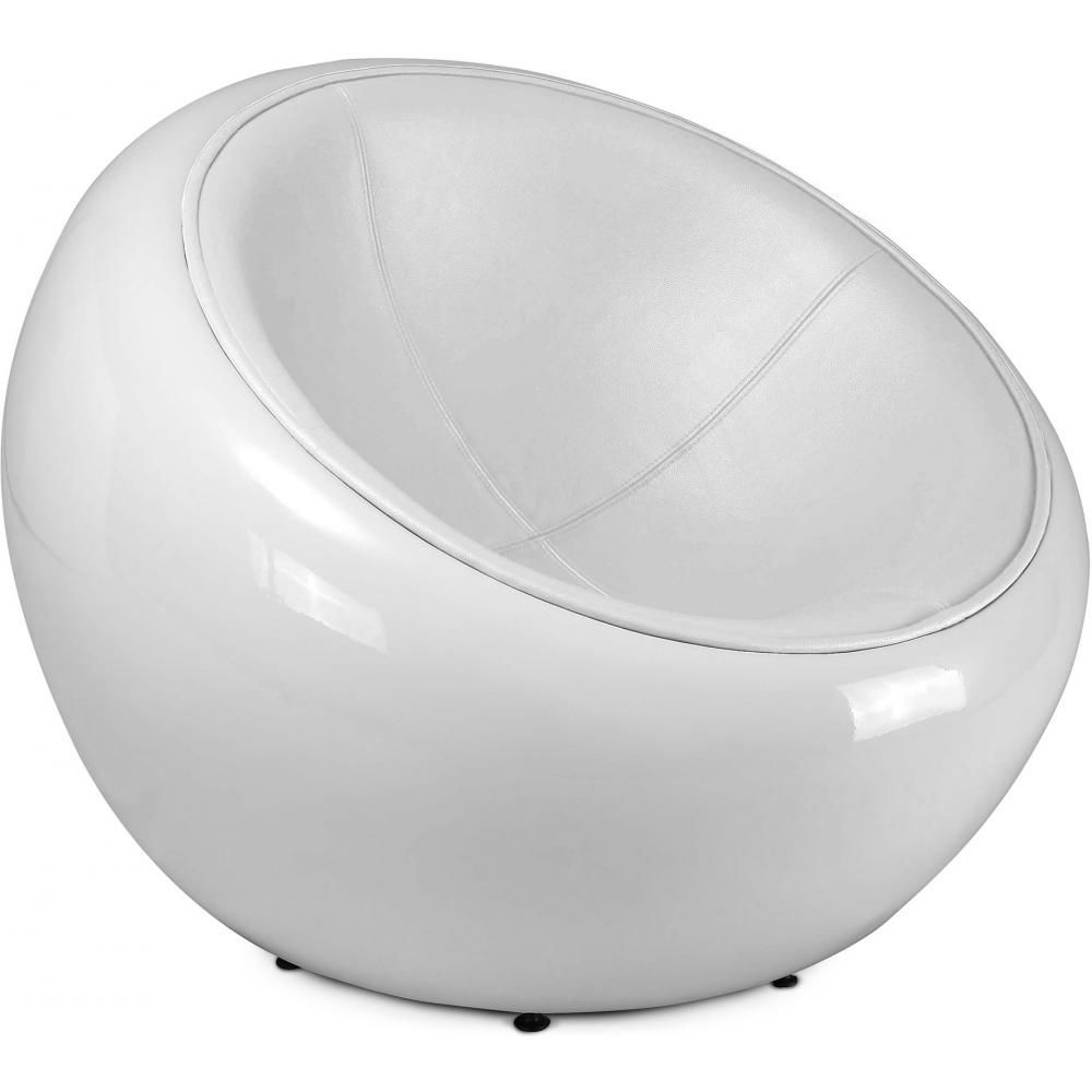 Privatefloor Fauteuil Egg Pod Ball Chair - Style Eero Aarnio - Simili Cuir
