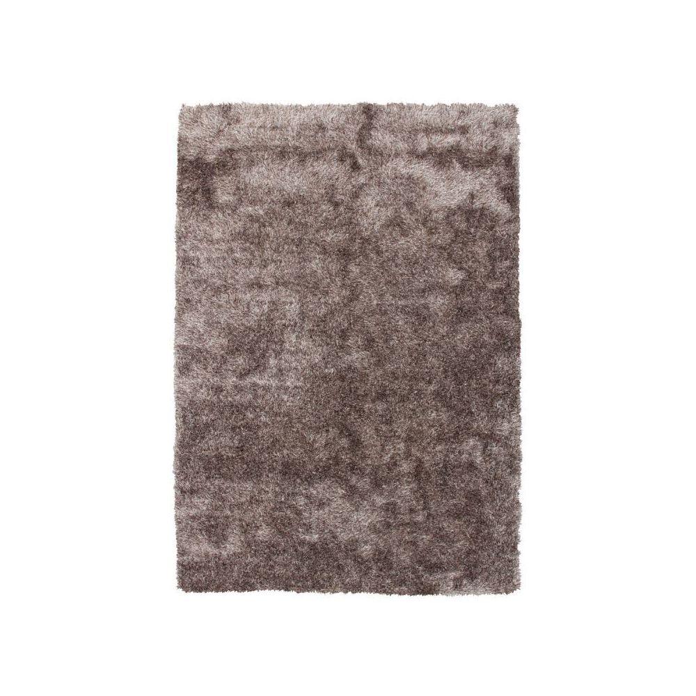 Paris Prix Tapis Shaggy Fait Main Diamond Taupe - 80 x 150 cm