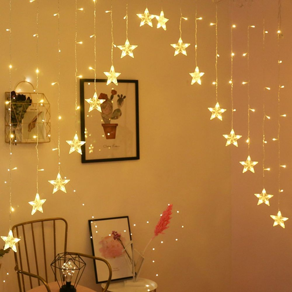 Generic Étoile rideau Lumières 16 étoiles Lumières fenêtre Guirlandes Branchez rideau chaîne