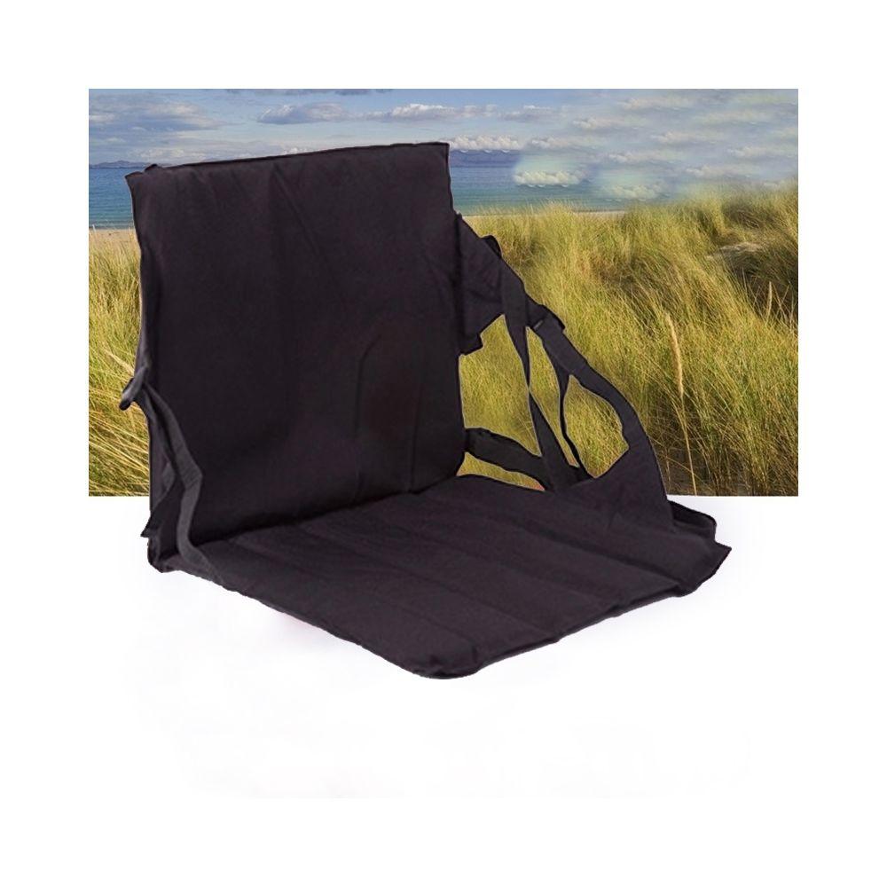 Wewoo Coussin pliant de siège extérieur noir avec le dossier, taille: 78 * 40 * 2cm