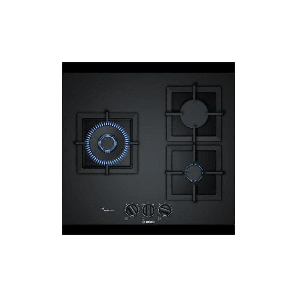 Totalcadeau Plaque à gaz noir 60 cm (3 feux) - - Dimensions 60 cm et Puissance: 8000 W