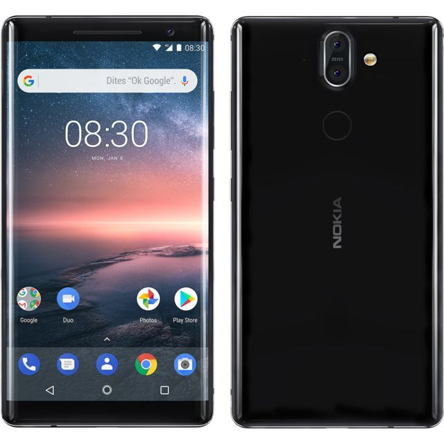 Smartphone Android Nokia 8 Sirocco - Noir