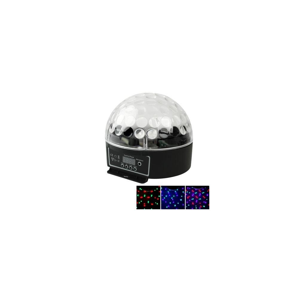 Wewoo LED Boule à facette Lumière magique d'étape de de 20W RVB DMX512 avec la fonction de contrôle de son