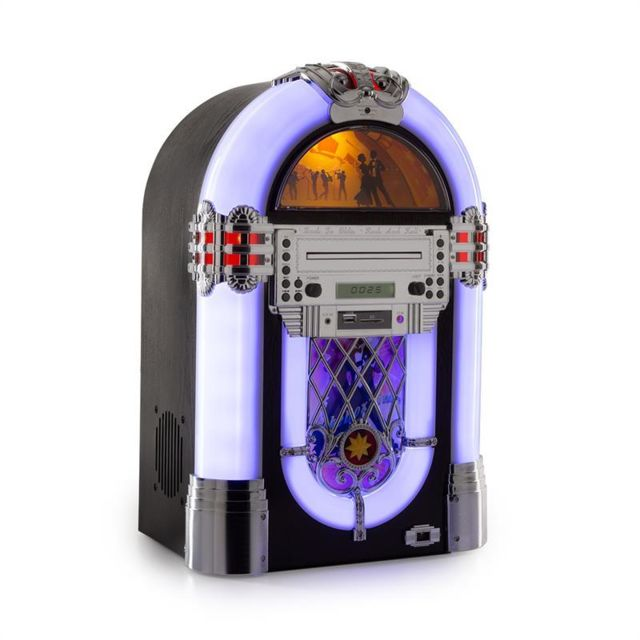 Auna - auna Kentucky Jukebox, BT, radio FM, USB, SD, MP3, lecteur de CD, blanc Auna - Matériel hifi Auna