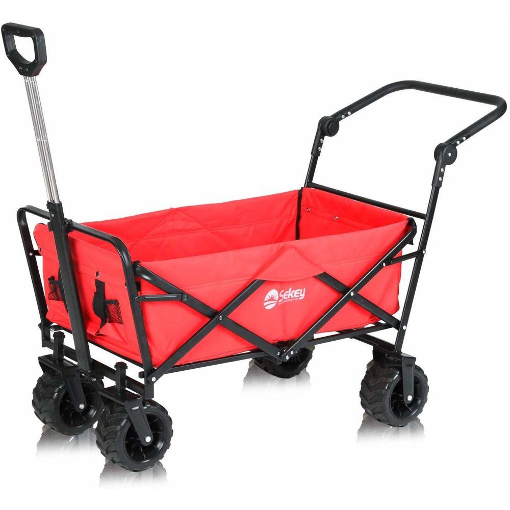 Sekey Sekey Charrette de Transport Pliable Chariot de Transport Jardin Chariot de Plage Tout Terrain Brouette extérieure Panie