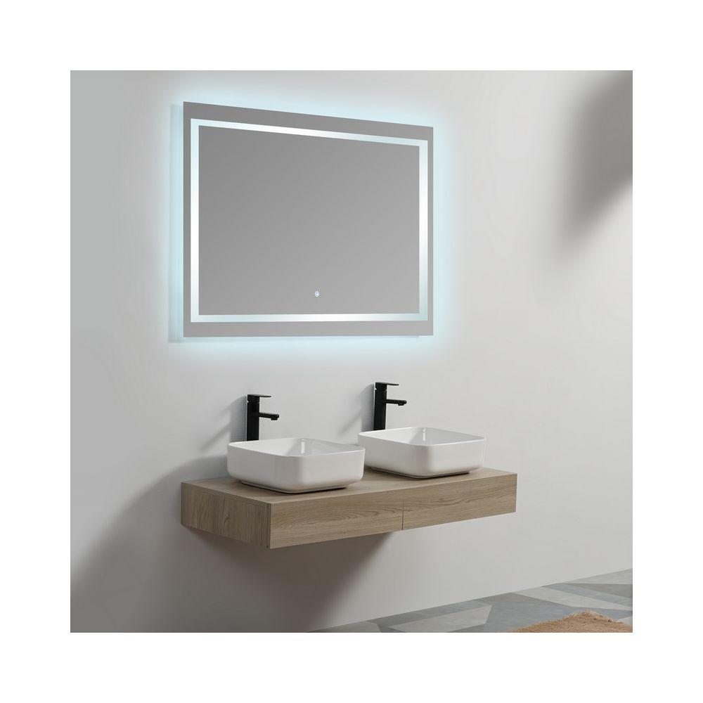 Rue Du Bain Plan sous vasque - Plaqué couleur Bois - 120x50 cm - Tendance