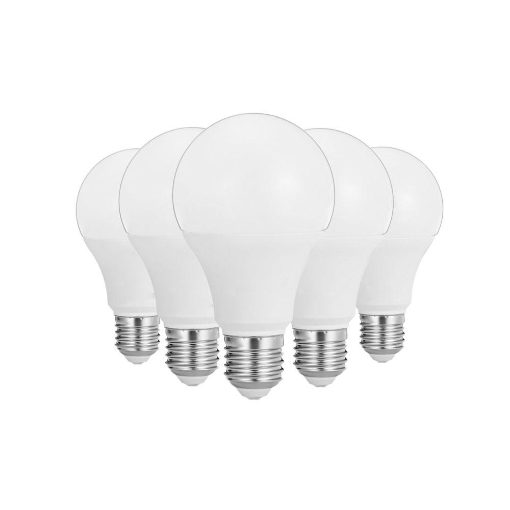 Wewoo Ampoule LED 5 PCS 12W E26 / E27 40LEDs 2835SMD Maison éclairage ampoule, CA 100-240V (blanc chaud)