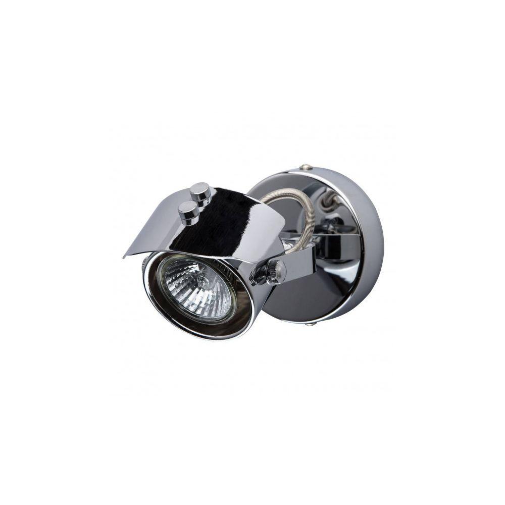 Luminaire Center Spot chromé Techno 1 ampoule 17 Cm