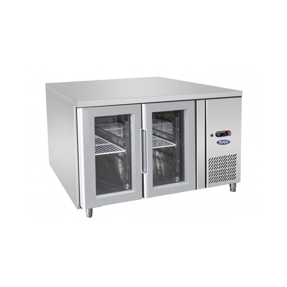 Atosa Table Réfrigérée Positive GN 1/1 de 2 Portes Vitrées - 280 L - Atosa - R600A 2 Portes