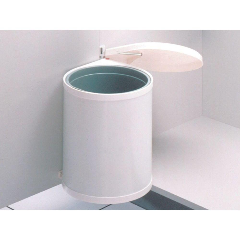 Hailo Poubelle encastrable COMPACT-BOX 15L - Blanc