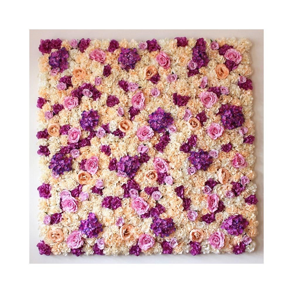 Wewoo Décoration Jardin champagne et rose Violet champagne fleur pivoine Hortensia artificielle cryptage bricolage mariage mur