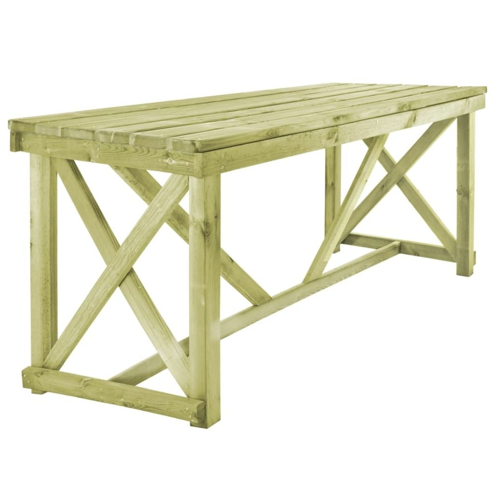Vidaxl Table de salle à manger de jardin 160 x 79 x 75 cm Bois FSC | Brun - Meubles de jardin - Tables d'extérieur | Brun | Bru