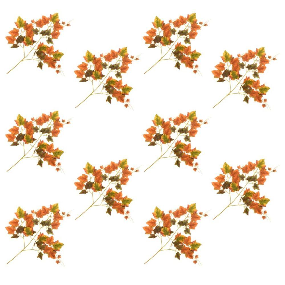 Vidaxl vidaXL 10 pcs Feuilles artificielles de raisin Rouge 70 cm
