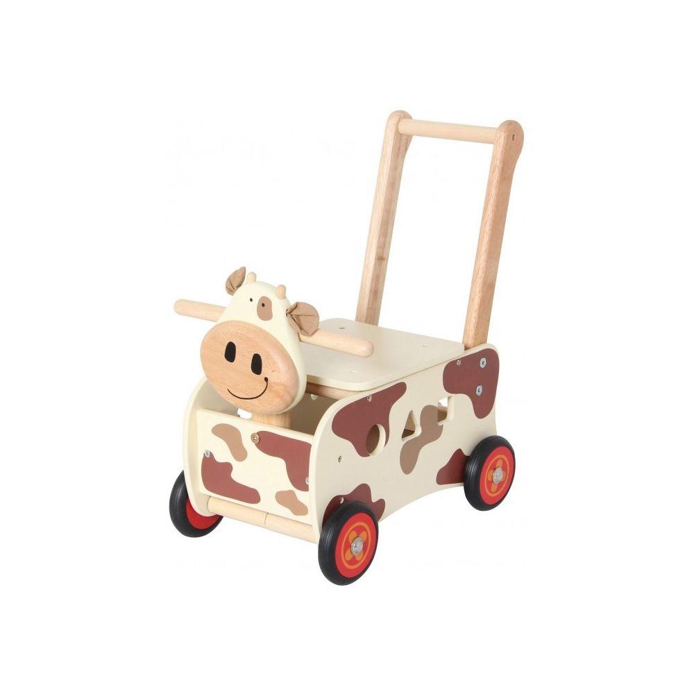 I M Toy Pousseur porteur en bois Clara la vache IM87130