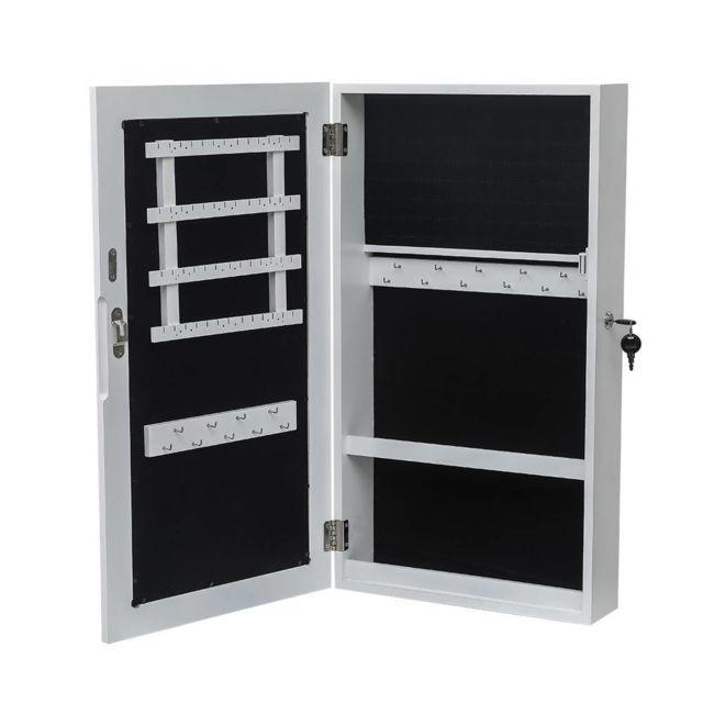 armoire de rangement avec miroir organisateur mural de rangement pour bijoux