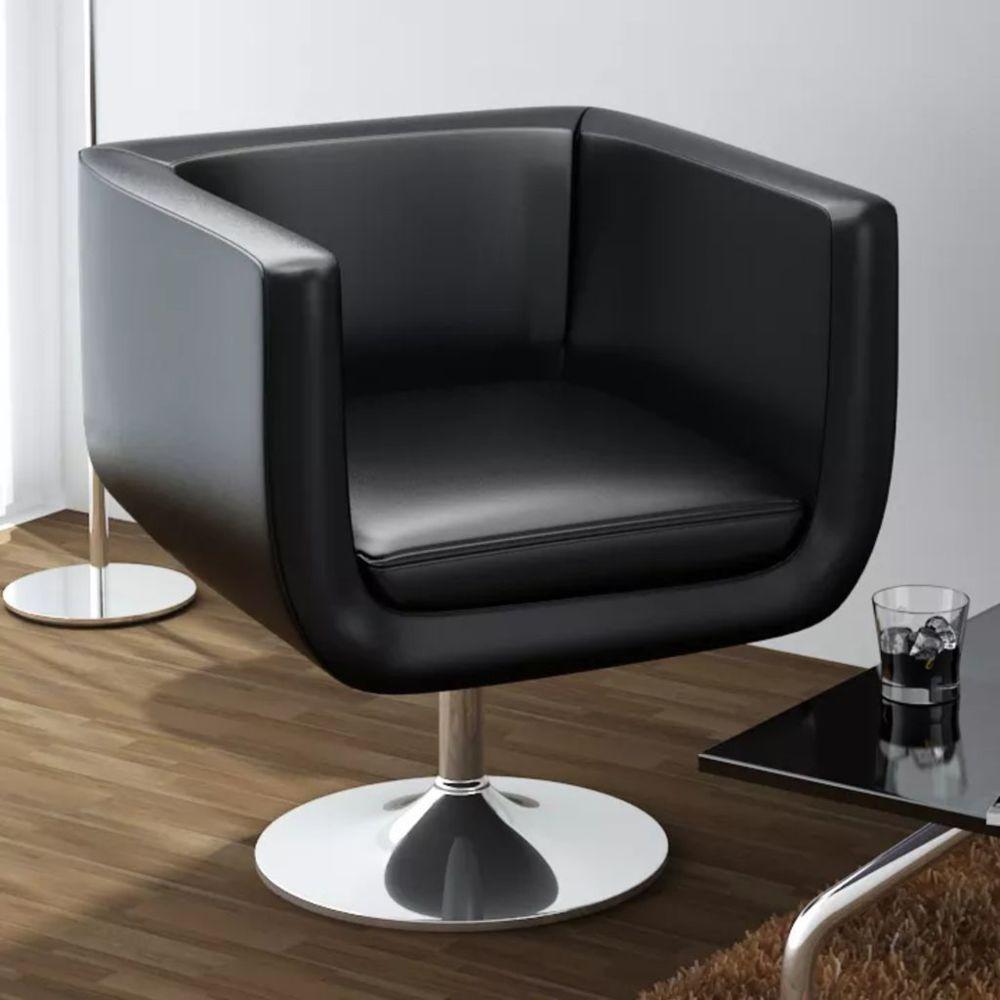 Vidaxl Chaise de bar Cuir artificiel Noir   Noir