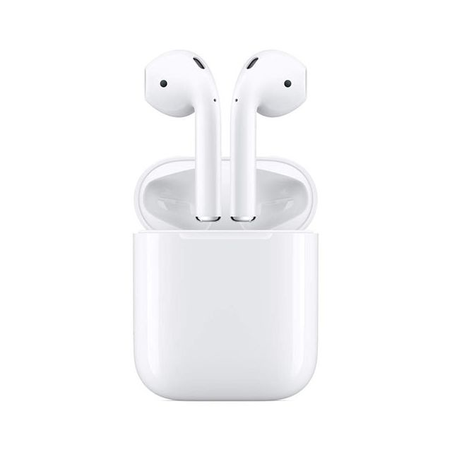 Apple -Écouteurs AirPods 2 MV7N2TY/A Blanc Apple  - Ecouteurs intra-auriculaires