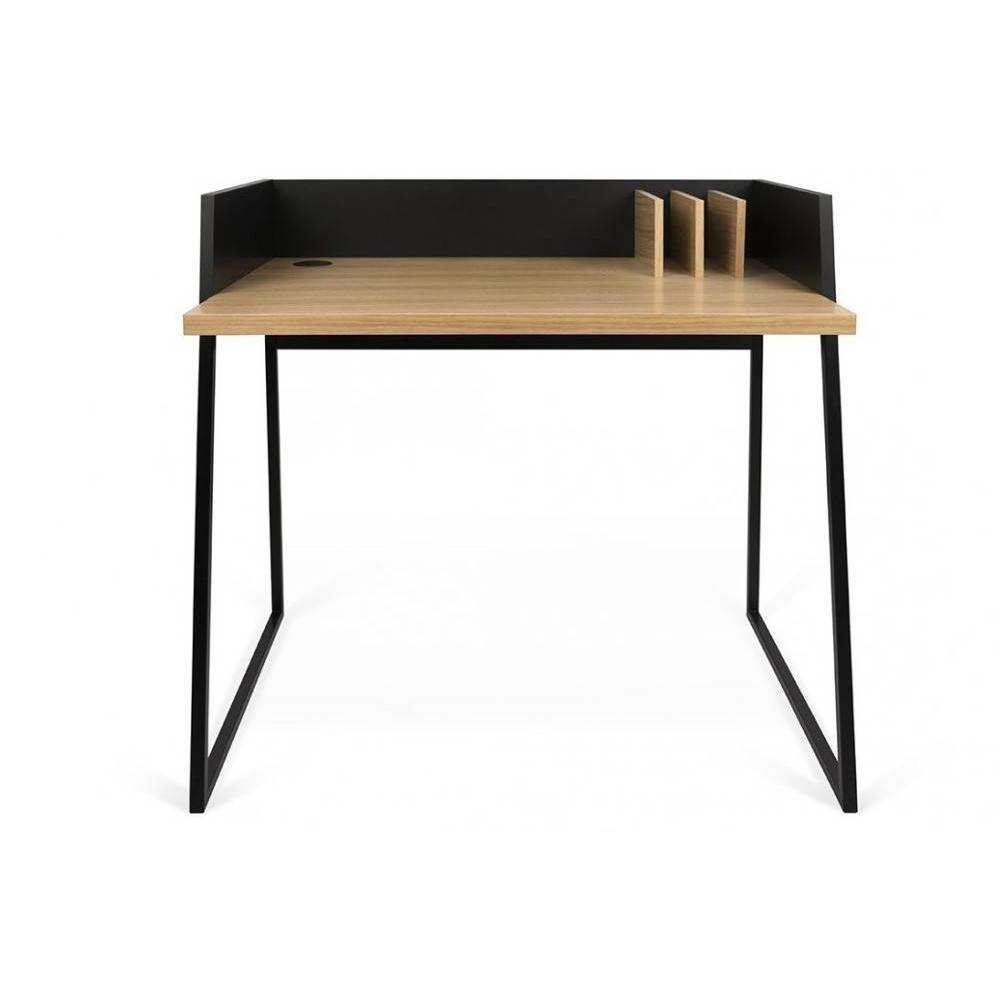 Inside 75 Bureau design VOLGA plateau chêne avec piétement noir