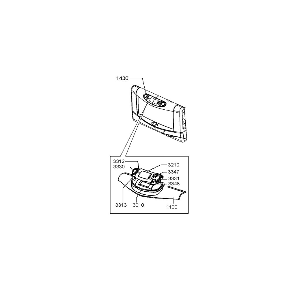 whirlpool PORTE COMPLETE INOX PLATINE COMMANDE POUR MICRO ONDES WHIRLPOOL - 481245938092